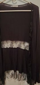 Black lacy cover.  Worn once.